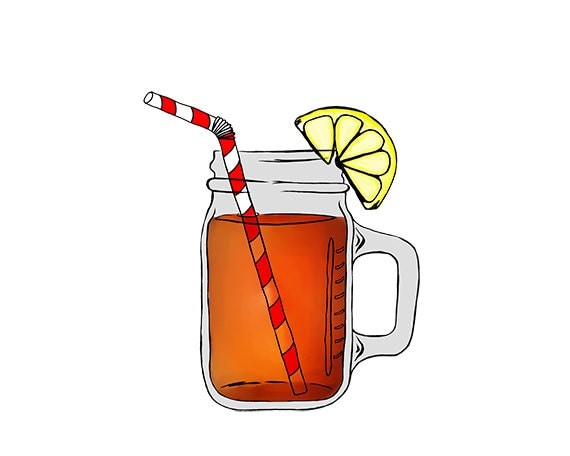 Items similar to Mason Jar Image - Ice Tea - Digital ...