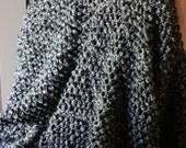 Slate Gray Charcoal Textured Afghan