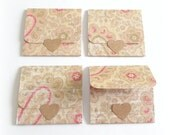 vintage paisley blank tri-fold mini note cards 2x2 handmade mini cards 8 tri-fold style note cards gift cards lunch box note any occasion