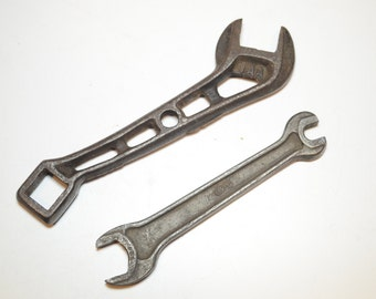 Vintage Brown-Manley Plow Company Wrench - Malta, Ohio - 1AA, Tractor Wrench, Plow Wrench, and USMC open end Wrench