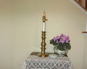 Solid Brass Decor Table Lamp, Electric Candle