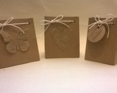 10 Handmade Gift Bags  for any occasion, 9cm high, Wedding, Birthday