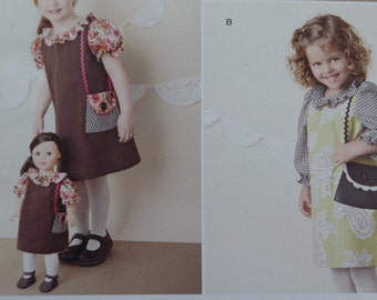 Simplicity 1289  Girls dresses with Matching 18 inch Doll Clothes  Sizes 3-8