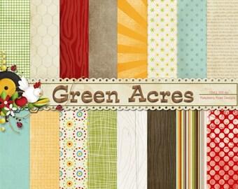 Green Acres Paper Set