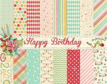 Happy Birthday Paper Set