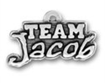 Team Jacob - Sterling Silver Charm - Twilight Inspired
