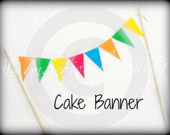 Cake Banner-Cupcake banner-paper banner-paper garland-birthday banner-Little Man Party-Baby Shower Cake Topper-Birthday Cake Bunting