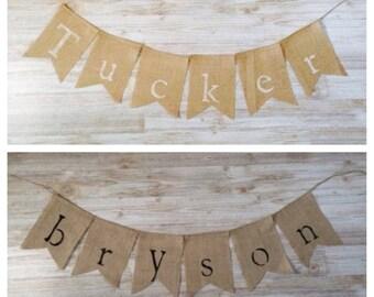 Burlap Name Banner