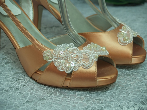 peach wedding shoes wedding shoes orange bridal shoes bridal 6411