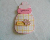 Baby Girl shaped bottle pink