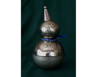 Clown Bank Raimond Chrome Roly Poly 1960s Lead Weighted