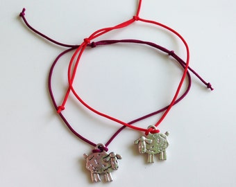 Red String Kabbalah Bracelets Silver Sheep Handmade Anti Evil Eye Thread of Fate Wrist Mati Hamsa Men Women Kids Unisex Bracelet Adjustable