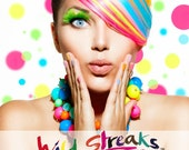 WILD STREAKS Henna Temporary Hair Tint All Natural 11 Colors