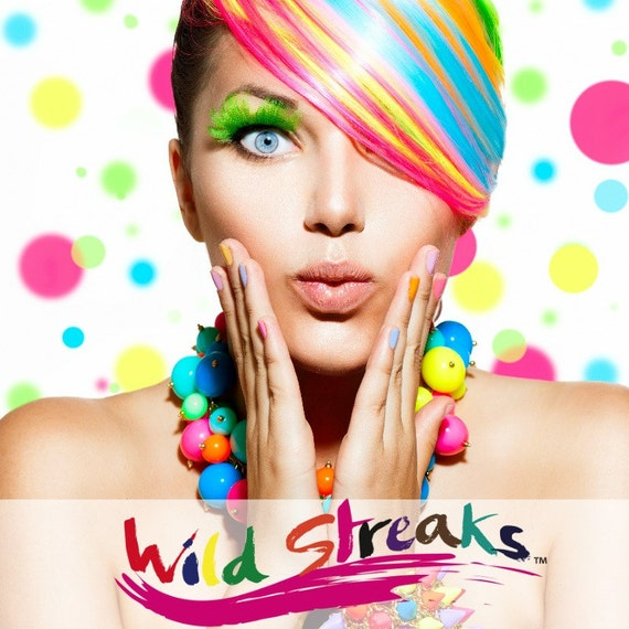 WILD STREAKS Henna Temporary Hair Tint All Natural 11 Colors