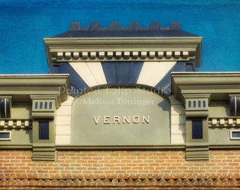 Italianate Architecture Historical Vernon Building Facade, Downtown Greensboro NC  Fine Art Photography Print or Gallery Wrap Canvas Giclee