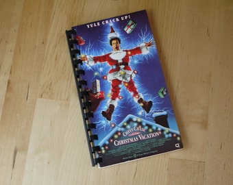 Handmade National Lampoon's Christmas Vacation 1989 Movie Re-purposed VHS Cover Notebook Journal