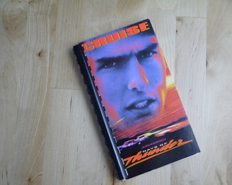 Handmade Days of Thunder 1990 Movie Tom Cruise Re-purposed VHS Cover Notebook Journal
