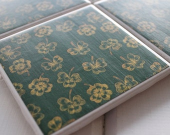 Four Leaf Clover Coasters