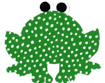 Frog iron on fabric applique DIY