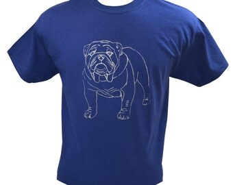 English Bulldog Dog T-Shirt Screen Printed Men's S M L XL