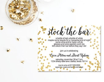 Stock the Bar Invitation | Wedding/Bridal Invitation | Engagement Party Invite 604