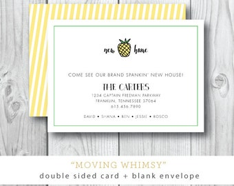 Moving Whimsy Printed Announcements | Moving or Open House or Trunk Show Party | Printable or Printed by Darby Cards