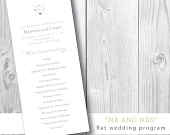 Wedding Weekend |Ceremony Program | Print and Design by Darby Cards