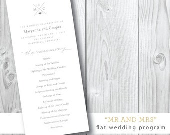 Wedding Weekend Ceremony Programs