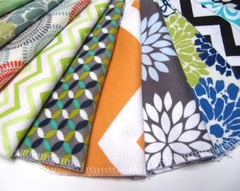 Cloth Wipes, 10 Neutral Mod-Mixed Set, Cloth Diaper Wipes, Reusable Flannel Wipes Adult Friendly