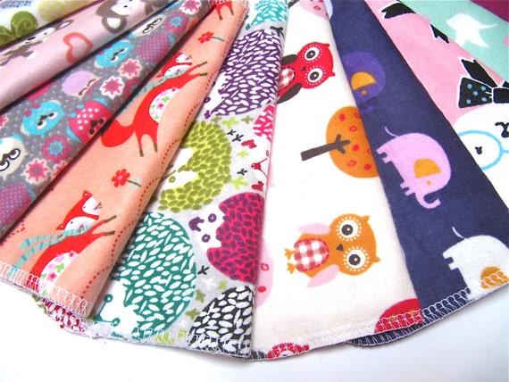 Cloth Napkins, 5 or 10 Girls Mixed Prints, Unpaper Napkins, Back To School Lunch Box Napkins