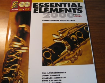 Clarinet Lesson book with two CD's. Essential Elements