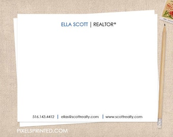 realtor stationery  - thick, matte - FREE UPS ground shipping