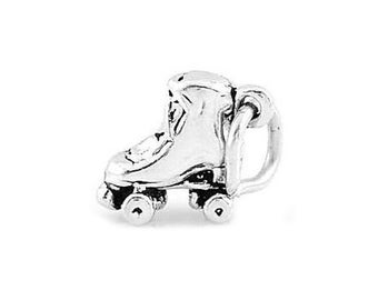 Sterling Silver Tiny Roller Skate Charm (3d Charm)