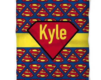 Personalized Superman Fleece Blanket
