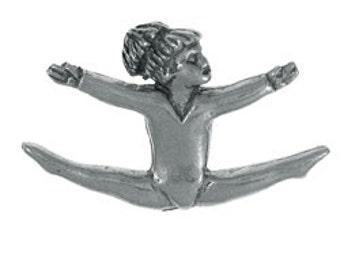 Gymnast Lapel Pin - CC376- Gymnastics, Gym Meets, Olympics, Sports, and Gym Teams