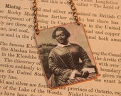 Black History necklace Elizabeth Greenfield African American Singer  mixed media jewelry