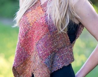Harlequin Vest Instant Download PDF Weaving Pattern for Pin or Zoom Loom