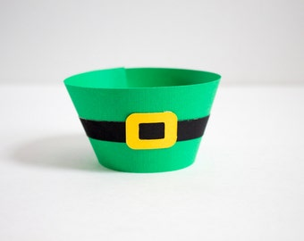 Adorable St. Patrick's Day Leprechaun Cupcake Wrappers