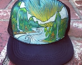 Hand Painted Trucker Hat by Roupolimama