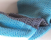 Chevron Pattern Turkish Towel Peshtemal towel in Turquoise Denim Blue color Cotton Hand Loomed soft