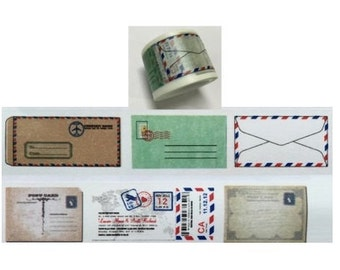 DIY Removable Adhesive Masking Deco Washi Tape - Airmail Envelope