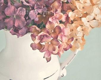 color print, 5x5 print, wall decor, flowers, vintage, purple flowers, nature, fine art print