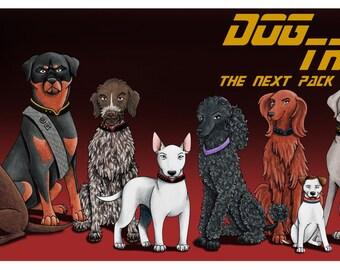 Dog Trek print