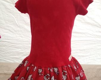 Valentine Hello Kitty Girls Dress