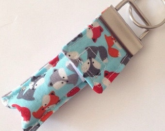 Keychain Chapstick Holder in Mini Foxes