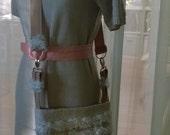 Custom Order for Ann - Crossbody Purse Bag - Paris - White Chenile Ruffles Burlap