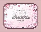 NEW!! Personalized Love Note from Girlfriend to Boyfriend Gift Keepsake