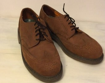 Vintage Leather Waterproof Dexter Wingtip Oxford Shoes Mens Size 9 Med Made in USA