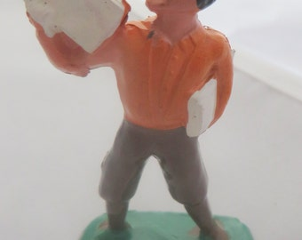 Newspaper Boy Vintage Barclay Toy Lead Figure