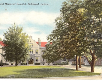 Vintage Postcard.....Reid Memorial Hospital, Richmond, Ind...Used...no. 2216